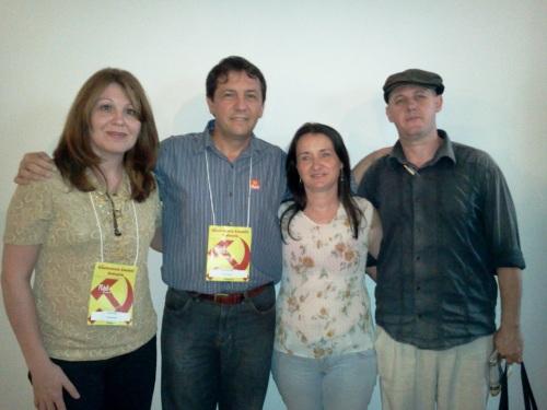 Selma Cogo, Chico Brasileiro, presidente estadual do PCdoB, Maristela Manosso e Sergio Gadini
